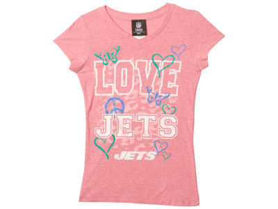New York Jets 5th & Ocean NFL Youth Girls Love Team T-Shirt