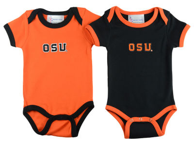 Oregon State Beavers NCAA Infant 2 Pack Contrast Creeper