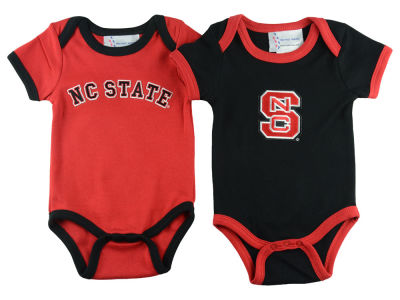 North Carolina State Wolfpack NCAA Infant 2 Pack Contrast Creeper