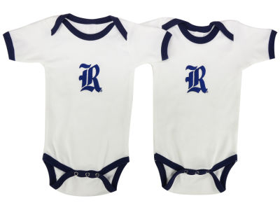 Rice Owls NCAA Newborn 2 Pack Contrast Creeper