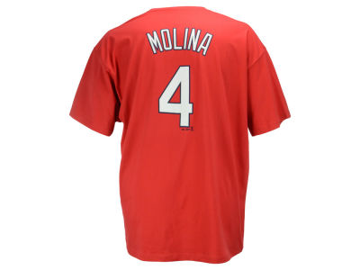 St. Louis Cardinals Yadier Molina MLB Men's Official Player 3XL-4XL T-Shirt