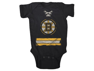 Boston Bruins NHL Infant Beeler Laces Creeper