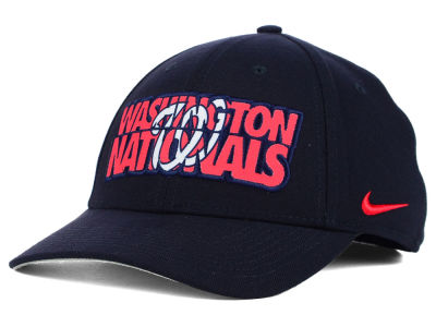 Washington Nationals Nike MLB Verbiage Logo Cap