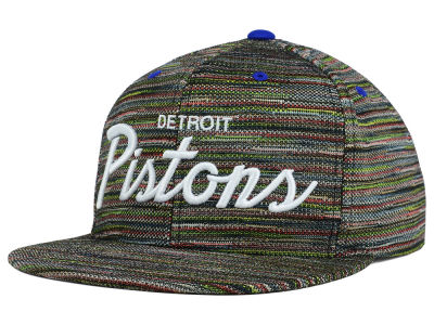 Detroit Pistons Mitchell and Ness NBA Space Fly Snapback Cap