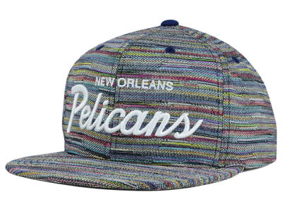 New Orleans Pelicans Mitchell and Ness NBA Space Fly Snapback Cap