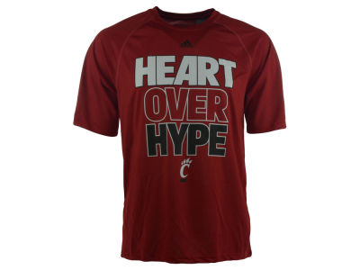 Cincinnati Bearcats adidas NCAA Men's Heart Over Hype Climalite T-Shirt
