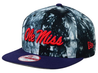 Ole Miss Rebels New Era NCAA Overcast 9FIFTY Snapback Cap