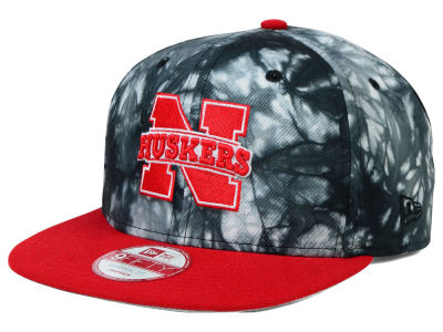 Nebraska Cornhuskers New Era NCAA Overcast 9FIFTY Snapback Cap