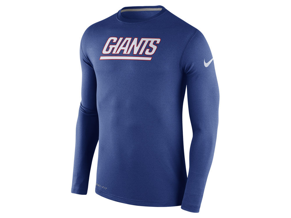 08528421 New York Giants Nike NFL Men's Dri Fit Touch Long Sleeve T-Shirt | lids.com