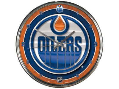 Edmonton Oilers Chrome Clock