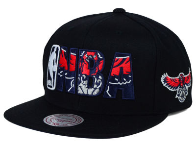 Atlanta Hawks Mitchell and Ness NBA Insider Snapback Cap