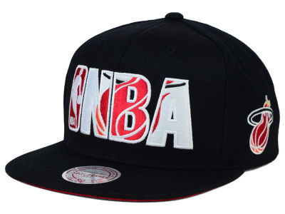 Miami Heat Mitchell and Ness NBA Insider Snapback Cap