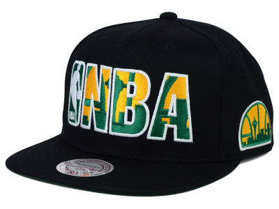 Seattle SuperSonics Mitchell and Ness NBA Insider Snapback Cap