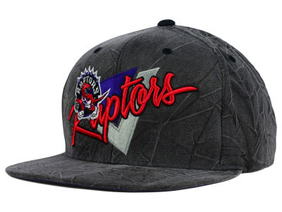Toronto Raptors Mitchell and Ness NBA Creased Script Snapback Cap