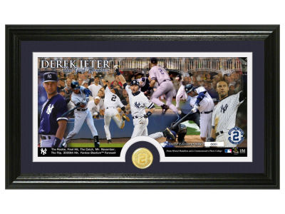 New York Yankees Derek Jeter Bronze Coin Panoramic Photo