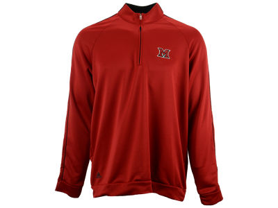 Miami (Ohio) Redhawks adidas NCAA 3 Stripes Piped Quarter Zip Pullover