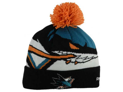 San Jose Sharks Reebok NHL 2014-2015 Stadium Series Pom Knit