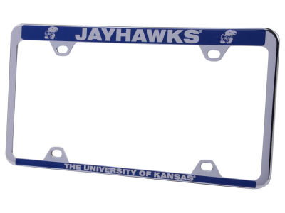 Kansas Jayhawks Thin Laser Etch License Plate