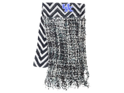 Kentucky Wildcats Chevron Scarf w/Fringe
