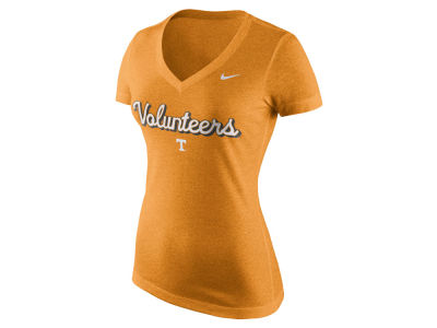Tennessee Volunteers Nike NCAA Women's Mid V-Neck Script T-Shirt