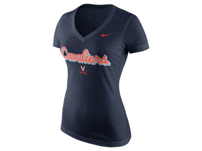 Virginia Cavaliers Nike NCAA Women's Mid V-Neck Script T-Shirt