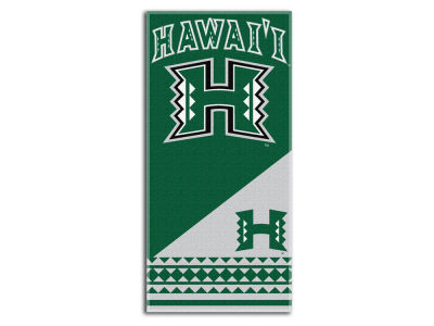 Hawaii Warriors Beach Towel Home NCAA