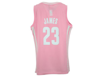 Cleveland Cavaliers LeBron James NBA Youth Girls Pink Jersey