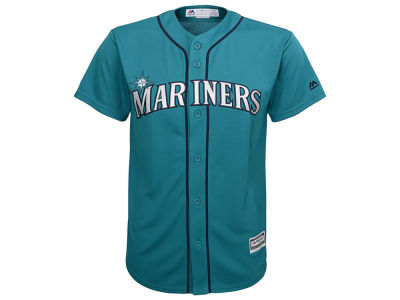 Seattle Mariners Majestic MLB Youth Blank Replica Jersey