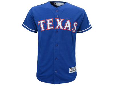 Texas Rangers Majestic MLB Youth Blank Replica Jersey
