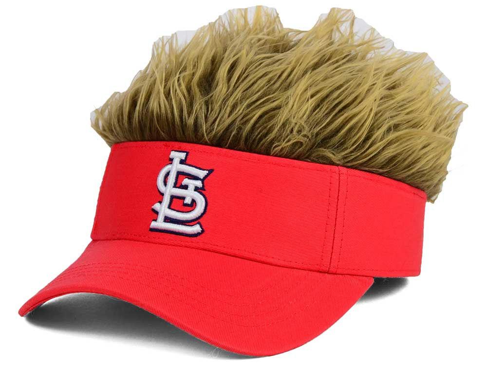 promo code f2a06 6be34 St. Louis Cardinals Flair Hair Visor   lids.com