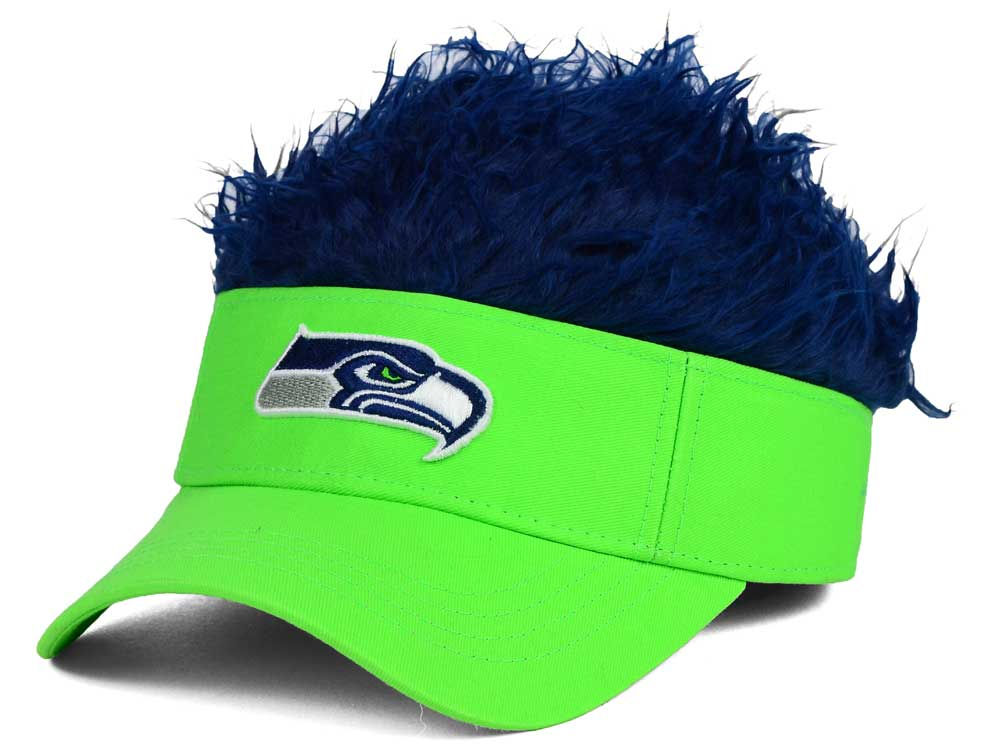 3caf40ac5 Seattle Seahawks Flair Hair Visor