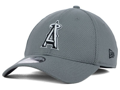 Los Angeles Angels New Era MLB NE Diamond Era Gray Black White 39THIRTY Cap