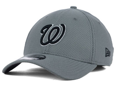 Washington Nationals New Era MLB NE Diamond Era Gray Black White 39THIRTY Cap
