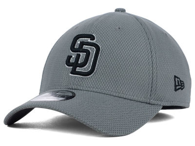 San Diego Padres New Era MLB NE Diamond Era Gray Black White 39THIRTY Cap