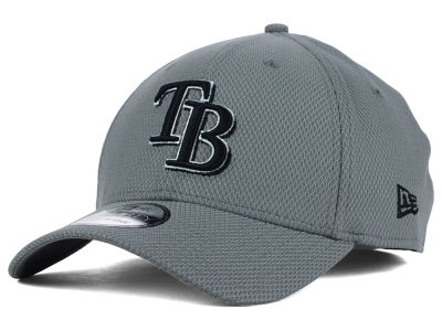 Tampa Bay Rays New Era MLB NE Diamond Era Gray Black White 39THIRTY Cap
