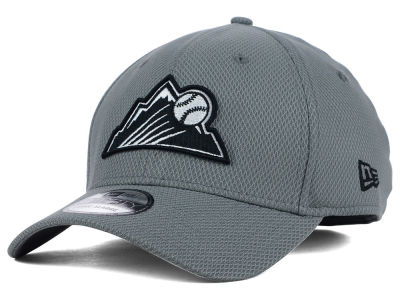 Colorado Rockies New Era MLB NE Diamond Era Gray Black White 39THIRTY Cap