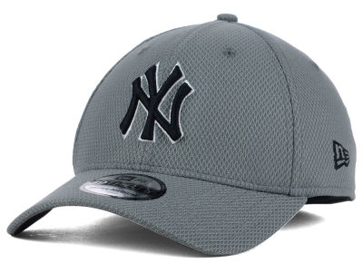 New York Yankees New Era MLB NE Diamond Era Gray Black White 39THIRTY Cap