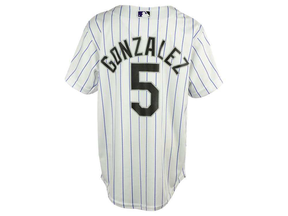 75d3e5ea81c Colorado Rockies  5 Carlos Gonzalez Black Fashion Jersey ...
