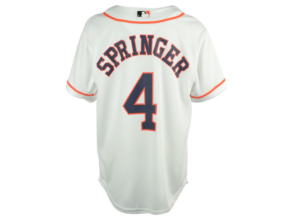 houston astros george springer majestic mlb youth player replica cool base jersey