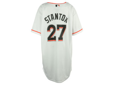 Miami Marlins Giancarlo Stanton  MLB Youth Player Replica Cool Base Jersey