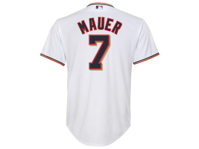Minnesota Twins Joe Mauer Majestic MLB Youth Player Replica Cool Base Jersey