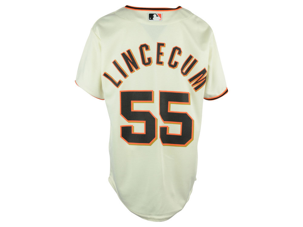 San Francisco Giants Tim Lincecum Majestic MLB Youth Player Replica Cool  Base Jersey  0370fcce7