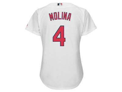 St. Louis Cardinals Yadier Molina Majestic MLB Women's Cool Base Player Replica Jersey