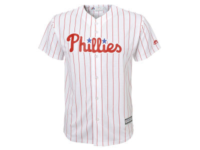 Philadelphia Phillies Majestic MLB Kids Blank Replica Cool Base Jersey