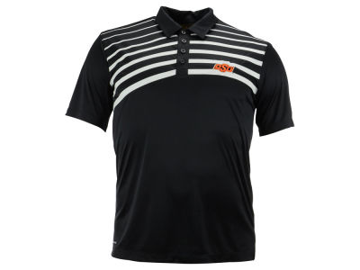 Oklahoma State Cowboys NCAA Men's Gradient Stripe Polo Shirt