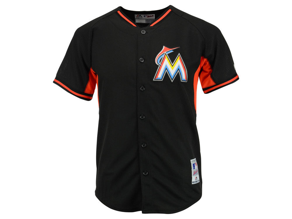 uk availability d89bf 21a84 Miami Marlins MLB Youth Cool Base Batting Practice Jersey