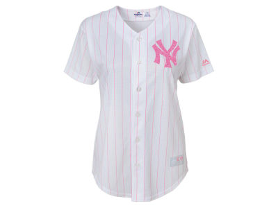 New York Yankees Majestic MLB Girls CB Pink Glitter Jersey