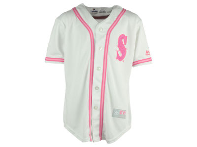 Seattle Mariners MLB Girls CB Pink Glitter Jersey