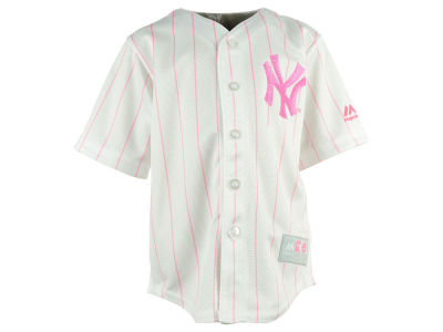 New York Yankees MLB Kids CB Pink Glitter Jersey