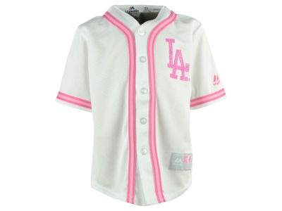 Los Angeles Dodgers MLB Kids CB Pink Glitter Jersey